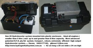 Gen 20 Hydrobooster system mounted into plastic enclosure - Copy - Copy