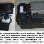 Gen 20 Hydrobooster system mounted into plastic enclosure
